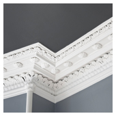 Intricate cornice mould painting