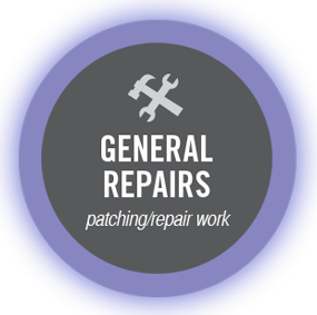 general repairs - patching/repair work